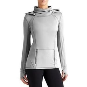 Athleta Plush Tech Hoodie (Pullover), Grey, Small